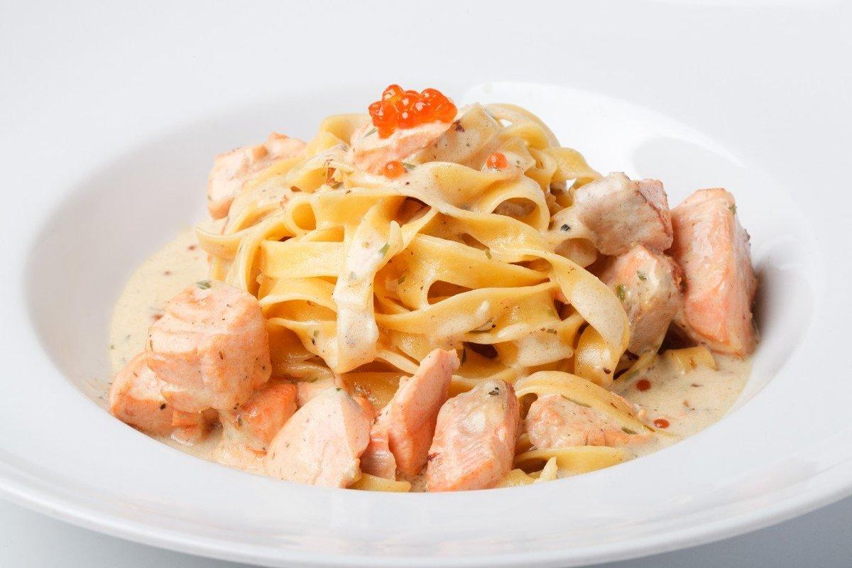 Паста с сёмгой в сливочном соусе - рецепт - Мамина печка 86