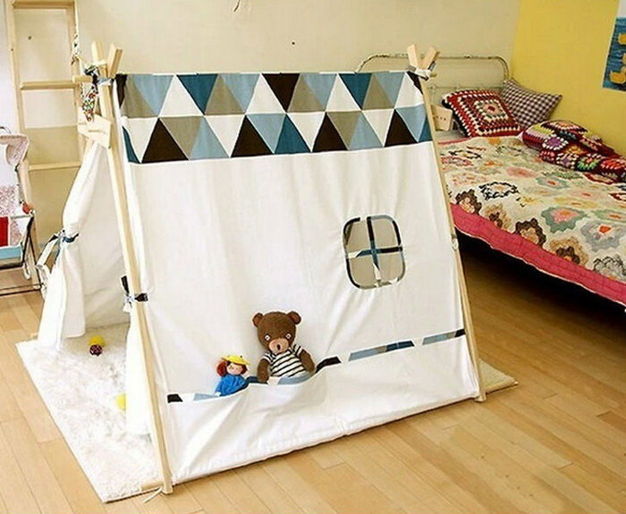 Детский домик-палатка своими руками 25