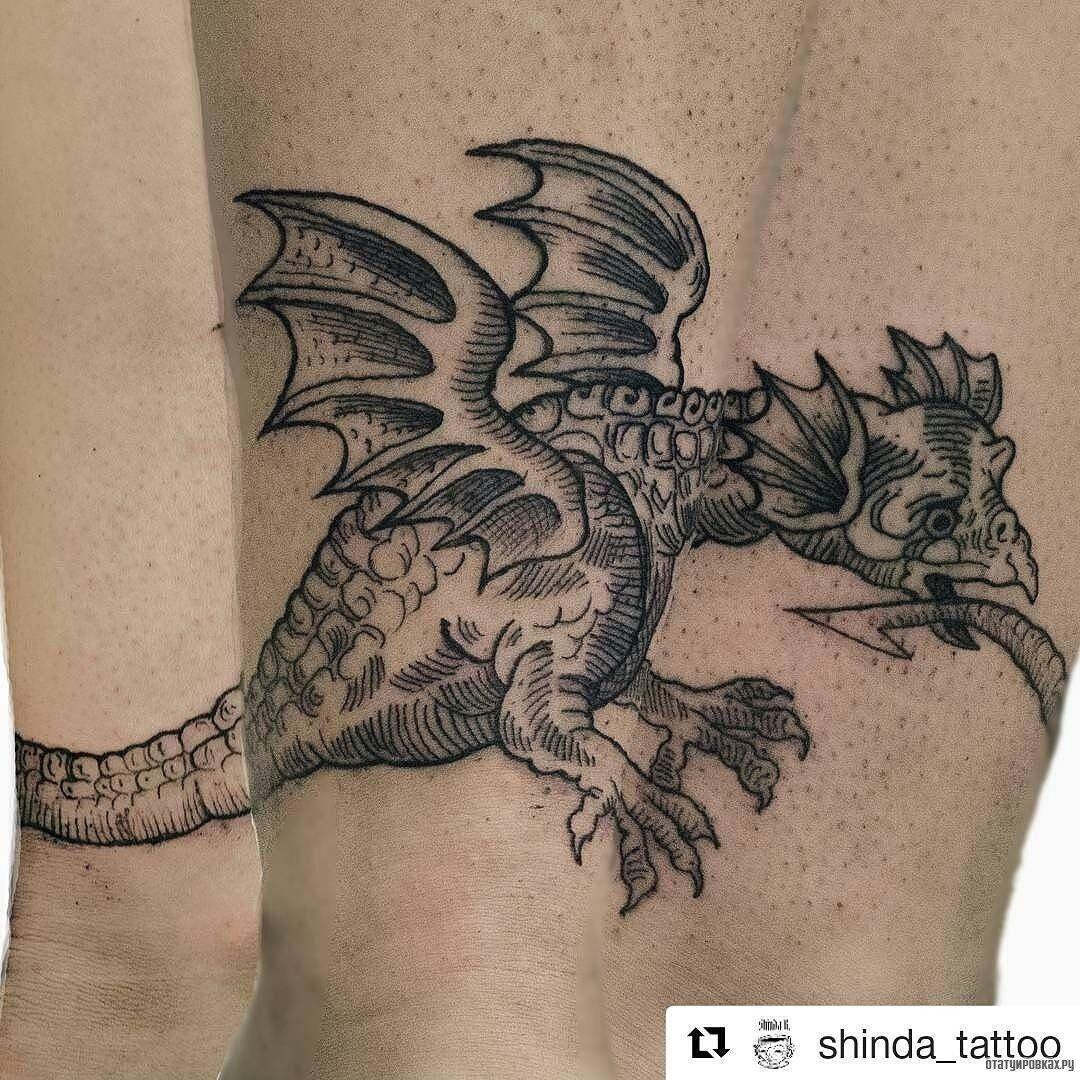 Фото татуировки в виде драконе
