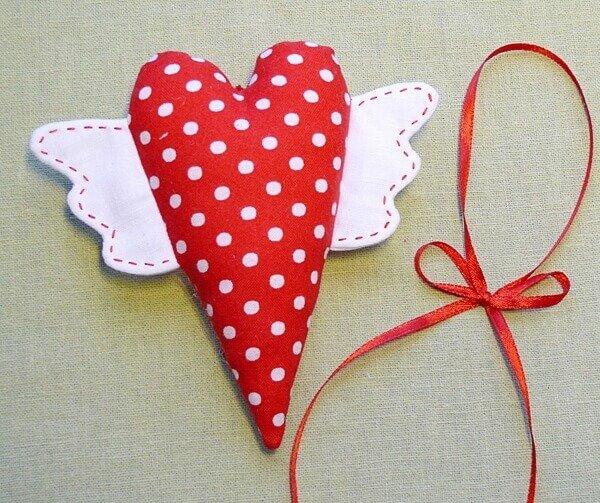 Подарок из ткани своими руками сердце 21