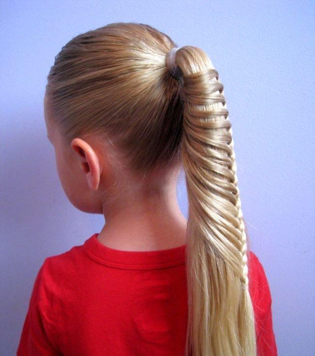 Как сделать причёску девочке с длинными волосами