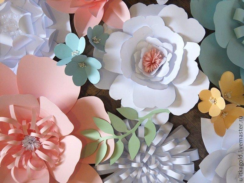 Объемные цветы из бумаги для декора своими руками