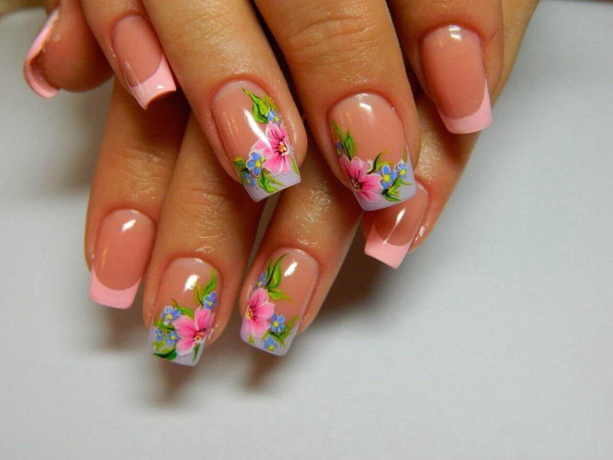 Наращивание ногтей дизайн фото весенний