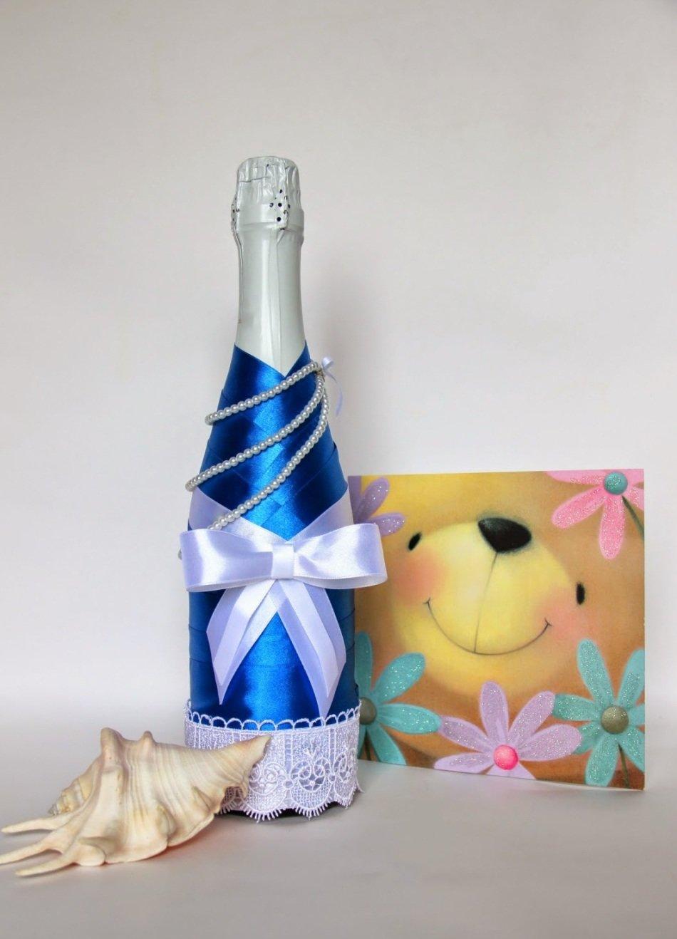 Украсить шампанское на день рождения своими руками 94