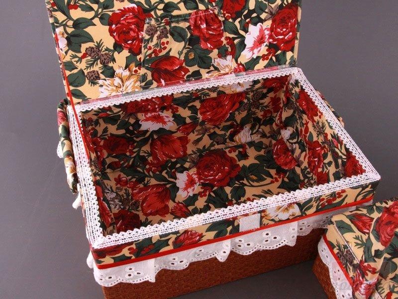 Коробки из ткани для рукоделия своими руками