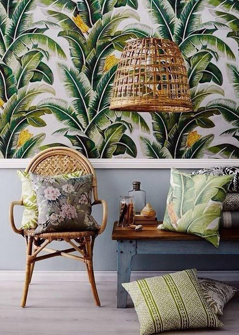 Дизайн гостиной с пальмой Современный