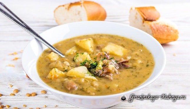Суп из баранины с горохом рецепт