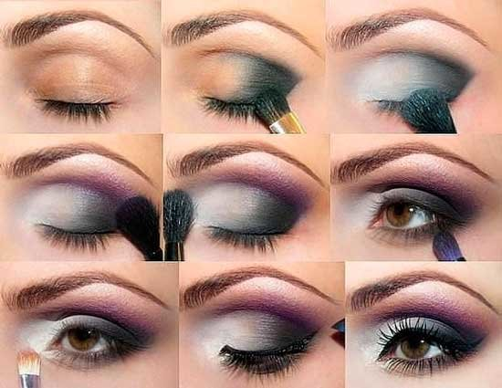 Тени для дневного макияжа для карих глаз