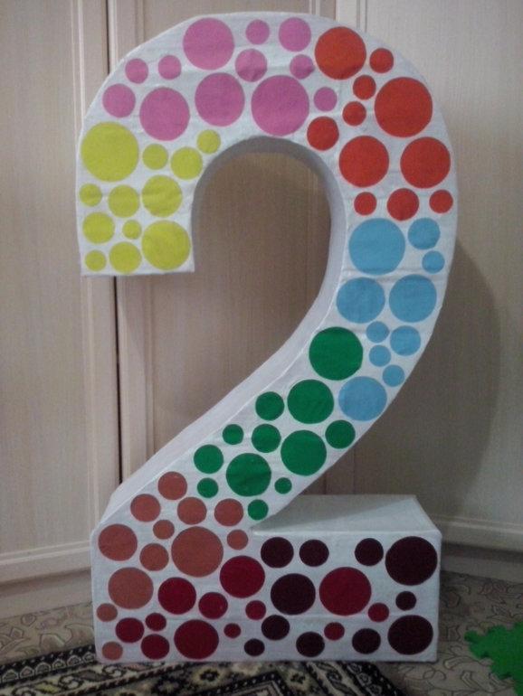Изготовление объемных цифр на день рождения своими руками 42