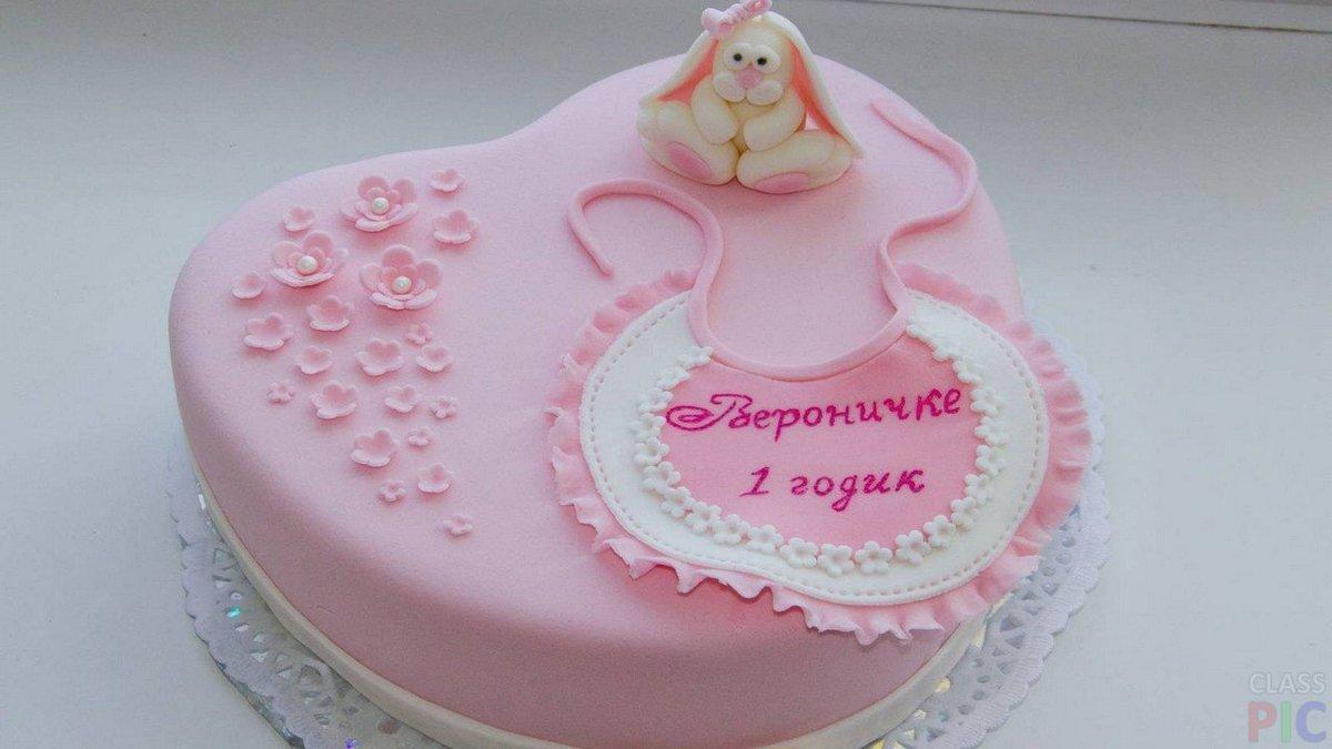 Торт для девочки на 1 год своими руками без мастики фото