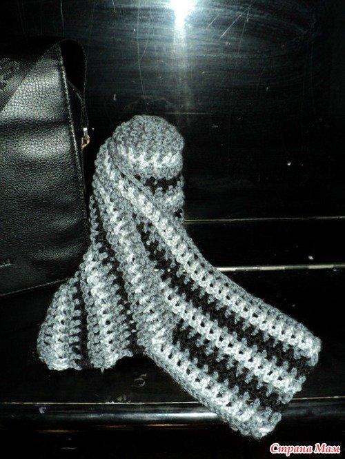 Вязание крючкоммужские шарфы 54