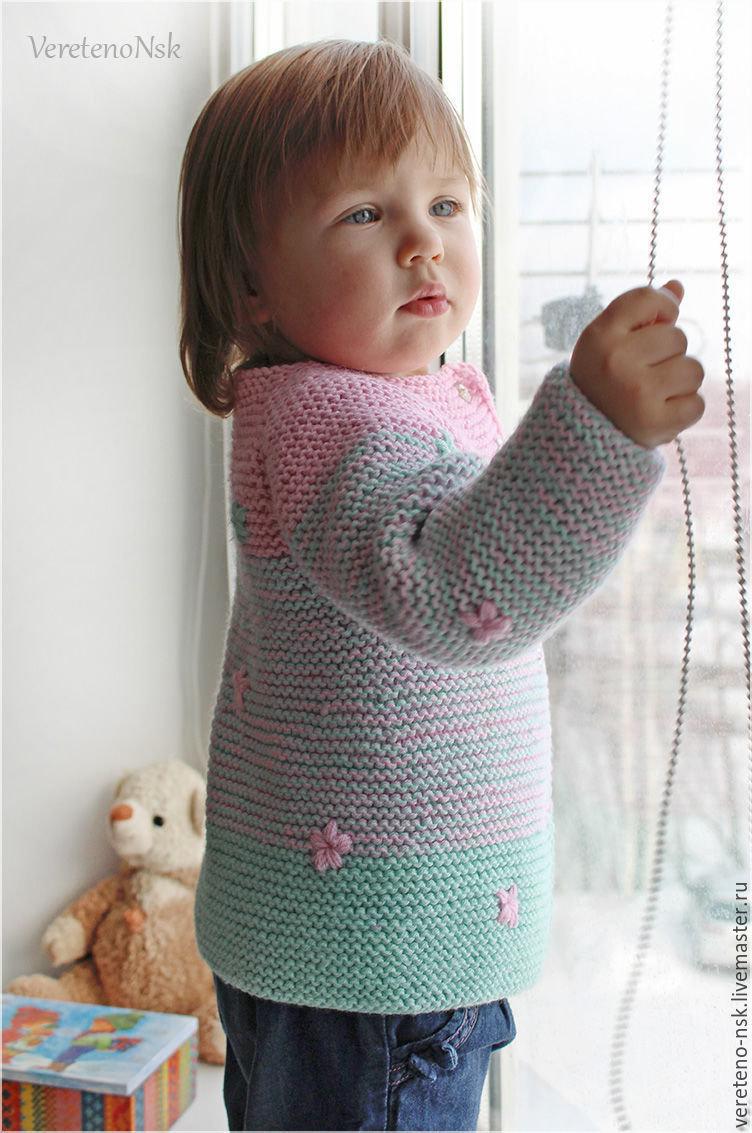 Вязание кардиган для девочки 42