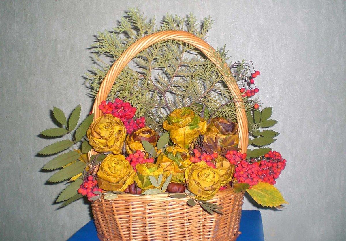 Осенний букет: поделки из природного материала творчсть 100