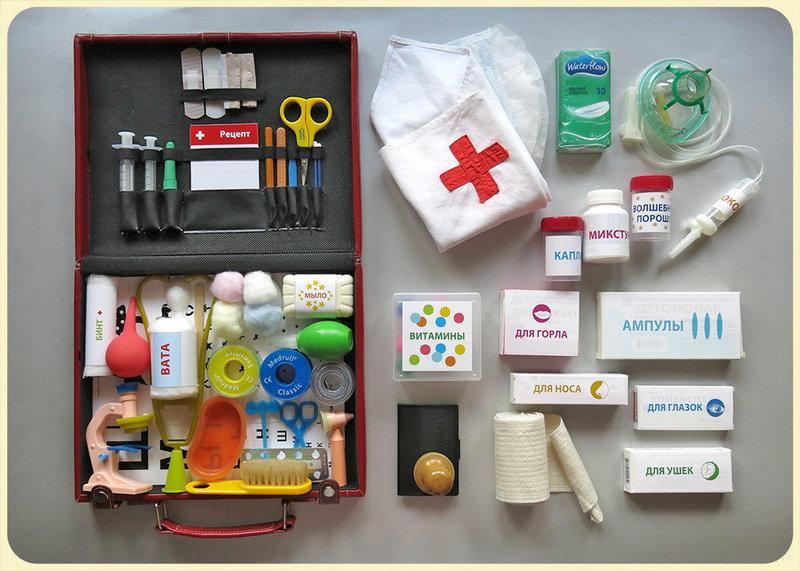 Как сделать набор доктора своими руками 2