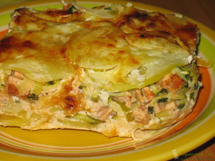 Картофельная запеканка с скумбрией в духовке рецепт пошагово 141