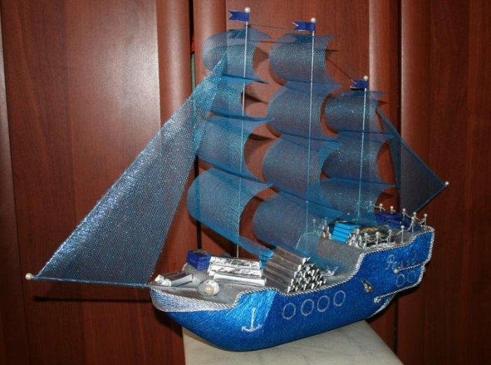 Кораблик подарок своими руками 83