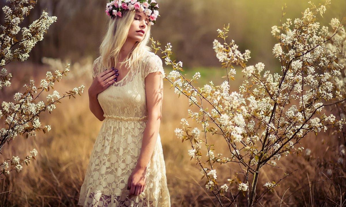 Фото на природе девушки идеи весна