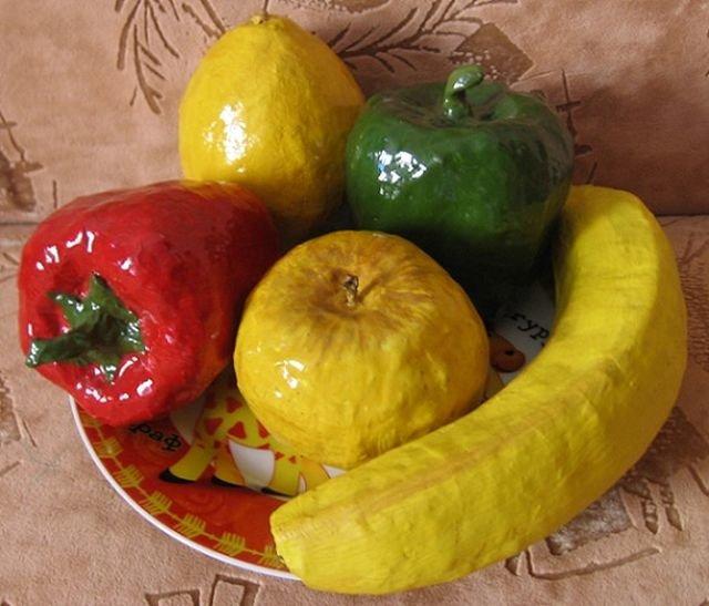 Муляжи овощей и фруктов сделать своими руками