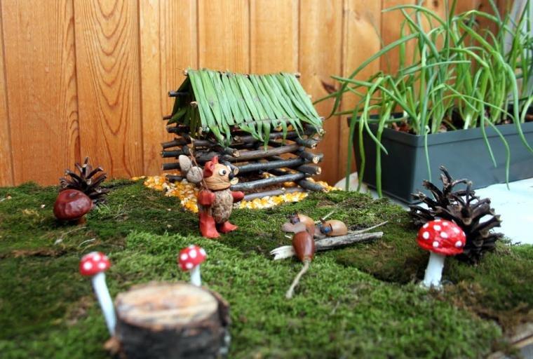 Поделки своими руками для сада осень из природного материала 822