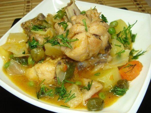 Рагу овощное с индейкой рецепт пошагово в