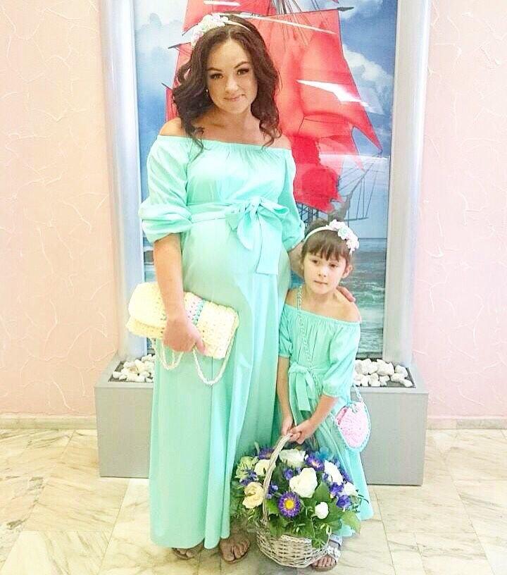 Платье для мамы и дочки в одном стиле сшить 22