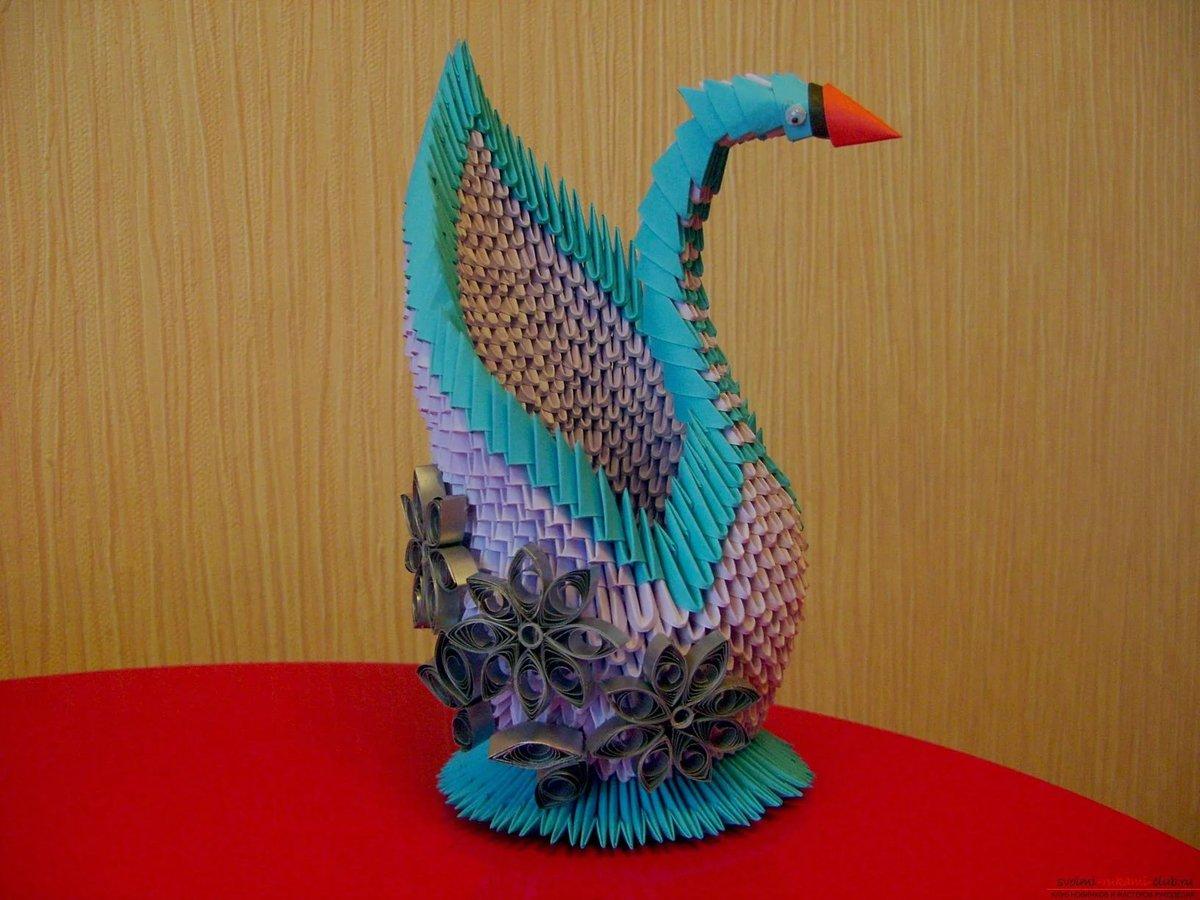 Лебедь из оригами своими руками 90