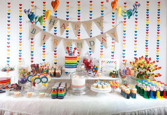 Украшения для стола на день рождения своими руками 96