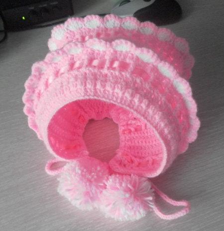 Вязание шапочки для новорожденных видео
