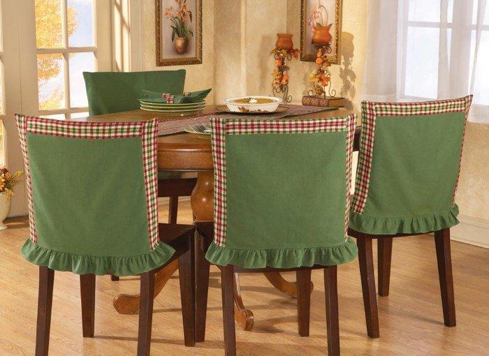 Чехлы на стулья в кухне своими руками 633
