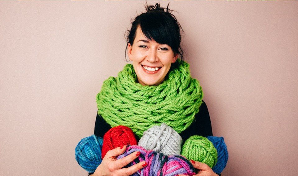 Дизайнерский шарф своими руками 59