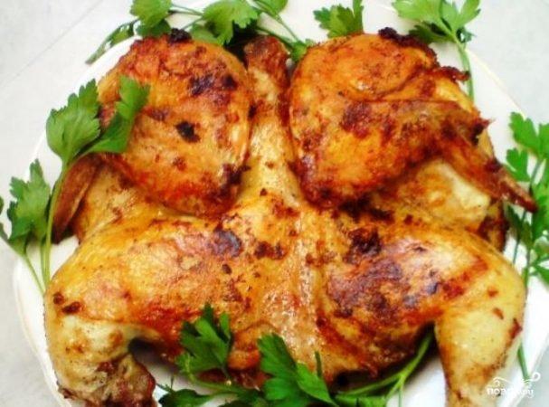 Рецепты цыпленка табака в духовке