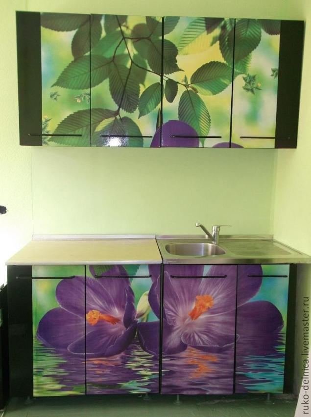 Декорирование старого кухонного гарнитура своими руками 70