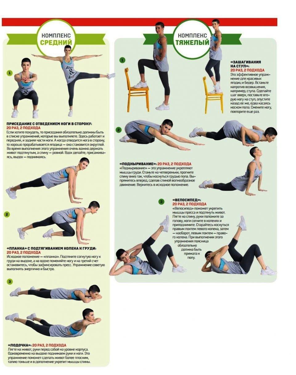 Физические упражнения для похудения живота, бедер, ягодиц и ног 81