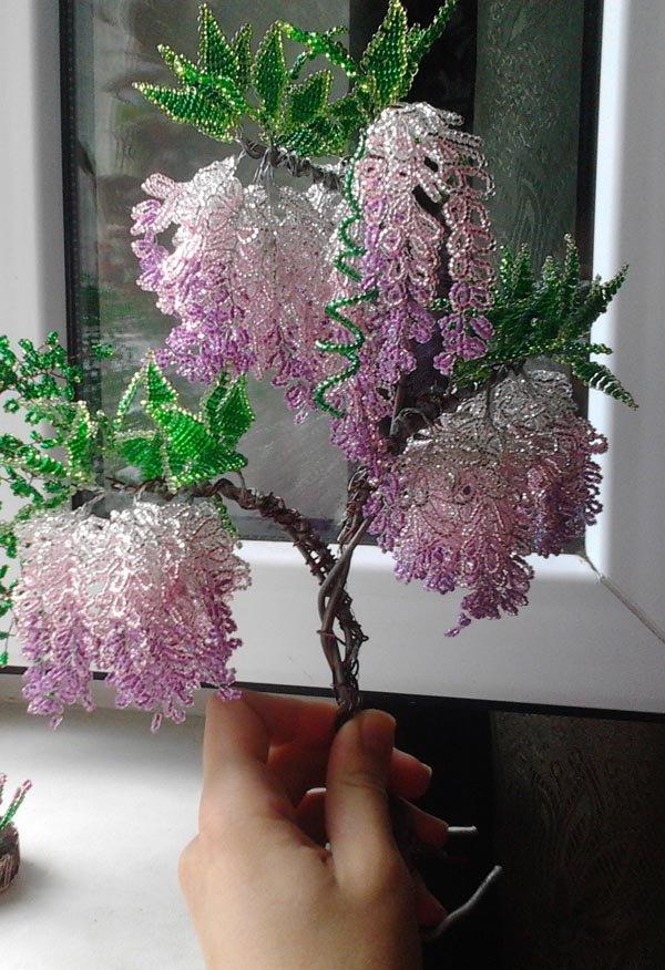 Глициния деревья из бисера своими руками 767