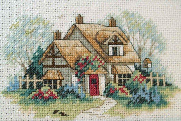 Схемы вышивки крестом дома 68