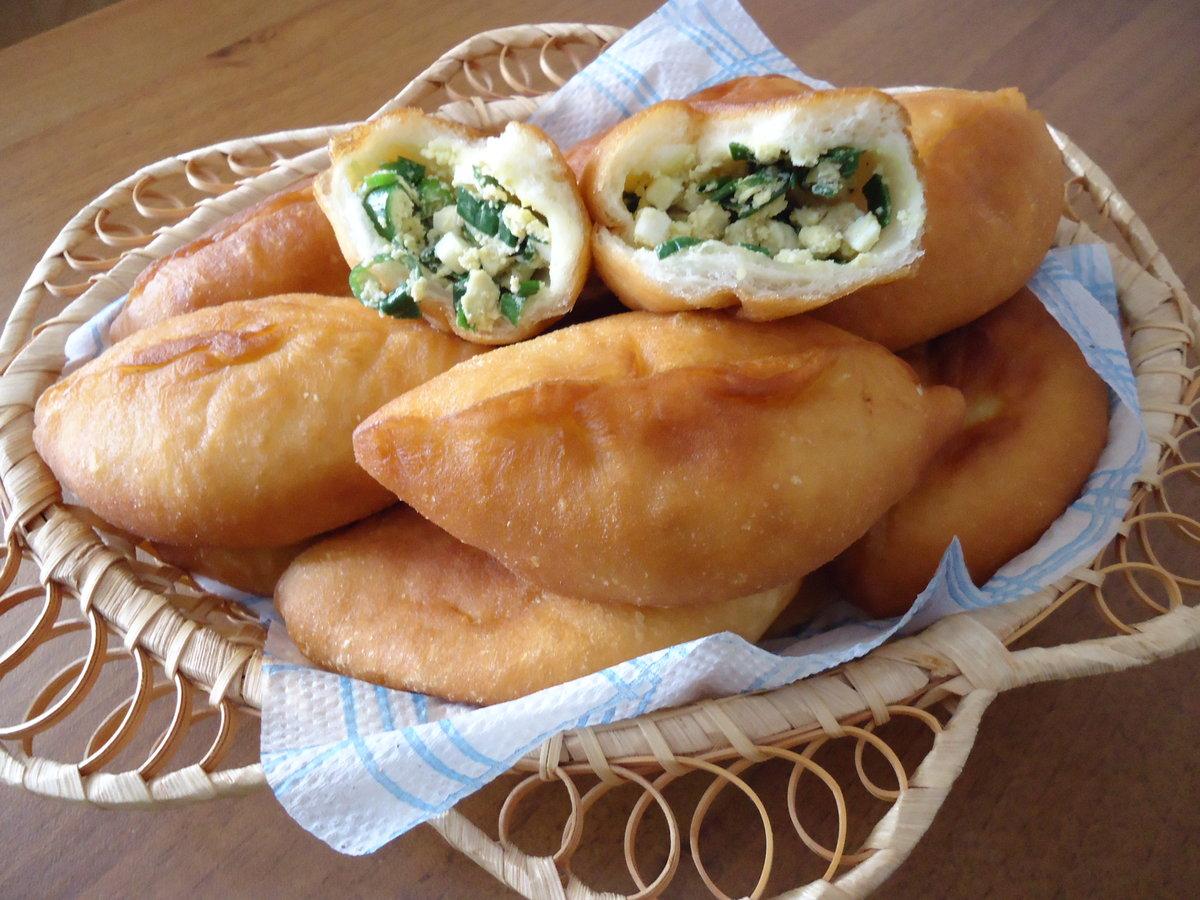 Пирожки с печенью и рисом жареные на сковороде рецепт