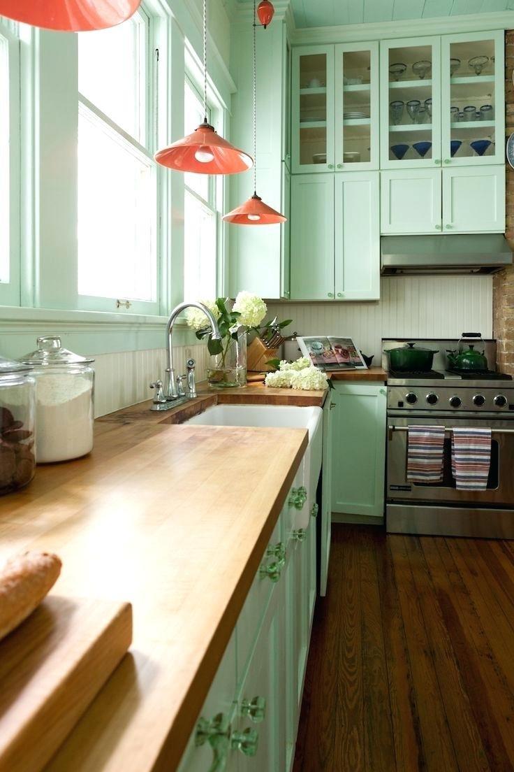 Мятная кухня в интерьере фото