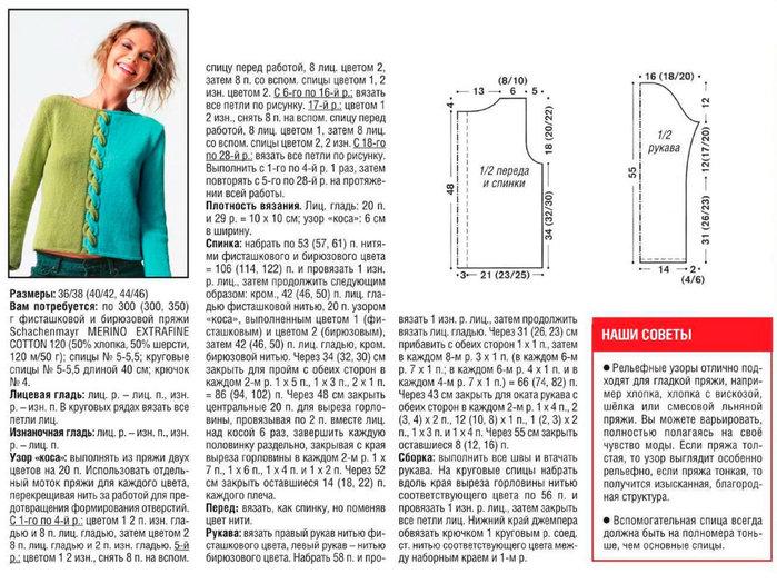Вязание кофты спицами для женщин модные 60