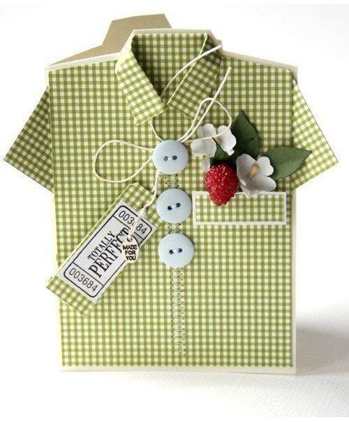 Открытка рубашка для мужчины своими руками 871