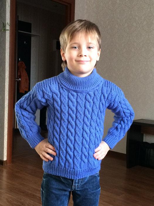 Вязание спицами свитер для мальчика 5-6 лет 9