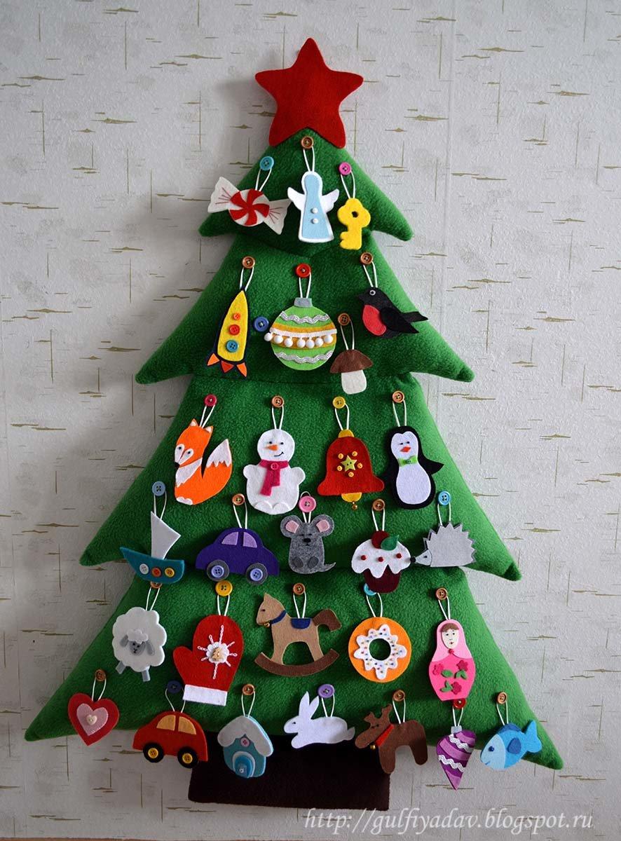 Поделки новогодних елок для детей