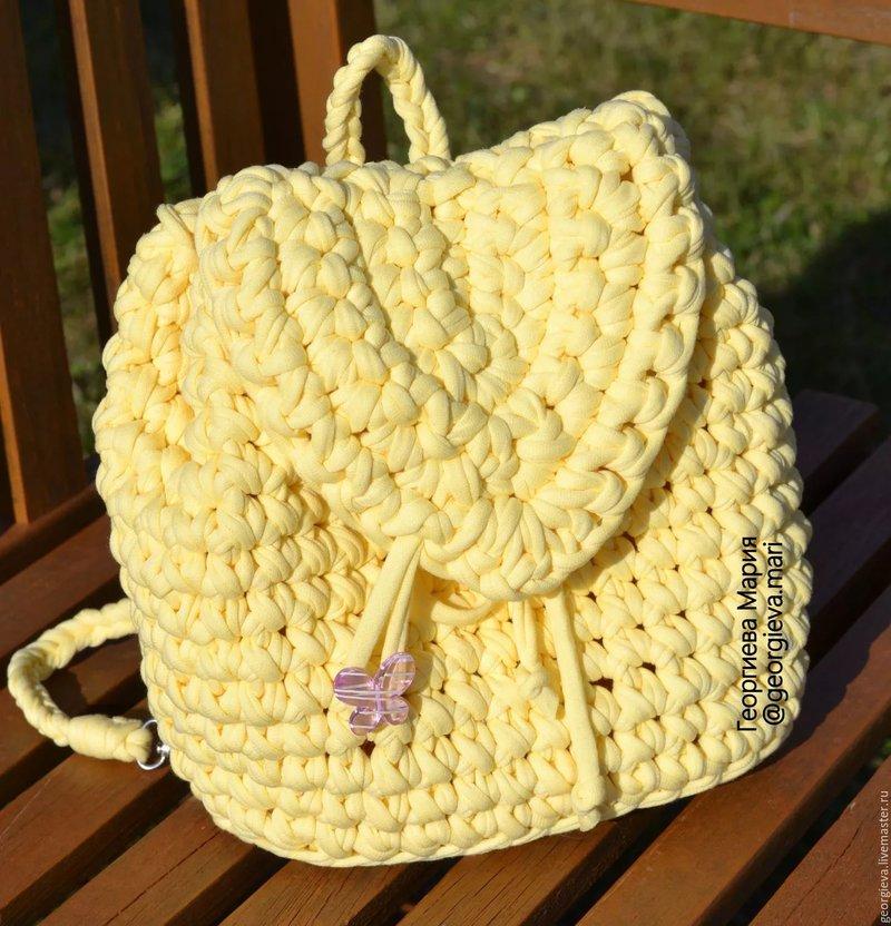 Рюкзак из трикотажной пряжи шьем и вяжем