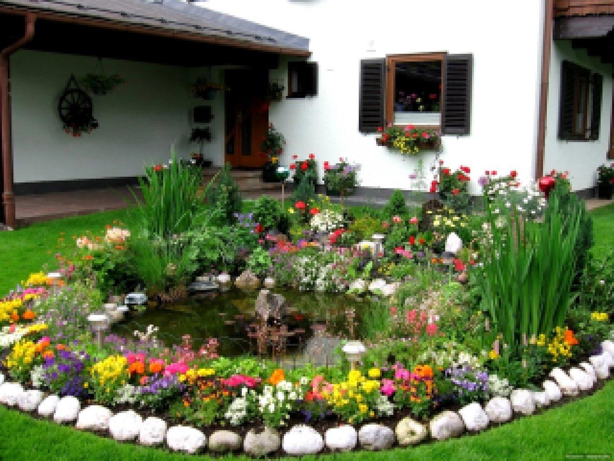 Ландшафтный дизайн клумбы возле дома своими руками