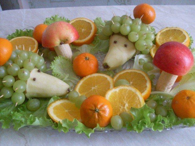 Фото украшения блюд из овощей и фруктов своими руками фото
