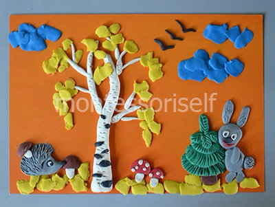 Поделки из пластилина в детский сад на тему осень 2