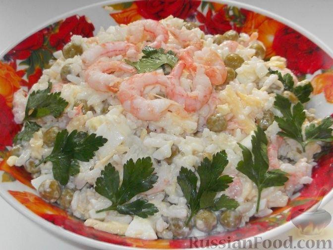 Салат с креветками и яйцом рецепт очень вкусный с