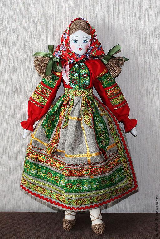 Куклы в народных костюмах своими руками из ткани 77