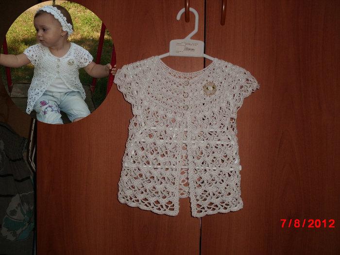 Вязание крючком летней кофточки для ребенка