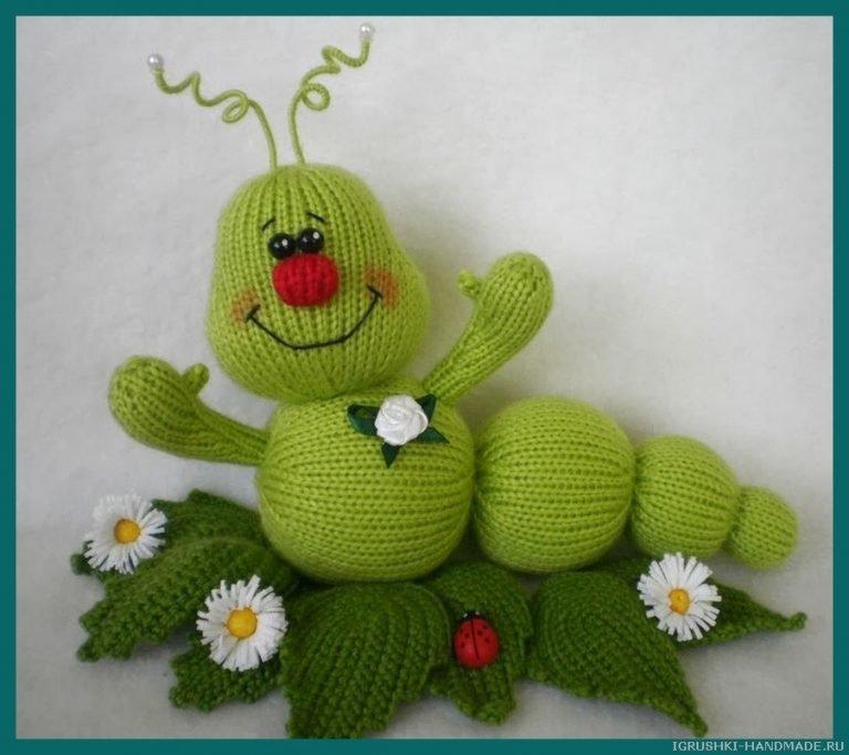Вязаные спицами игрушки для начинающих, фото, инструкция, видео