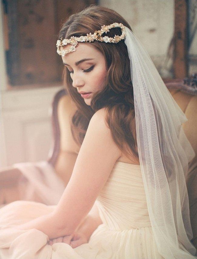 Свадебные прически греческий стиль с фатой